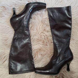 Franco Sarto man made brown boots. Size 8